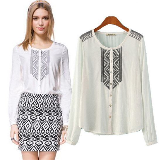 2015-Trendy-Women-Totem-Embroidery-Shirts-Women-Vintage-Shirts ...