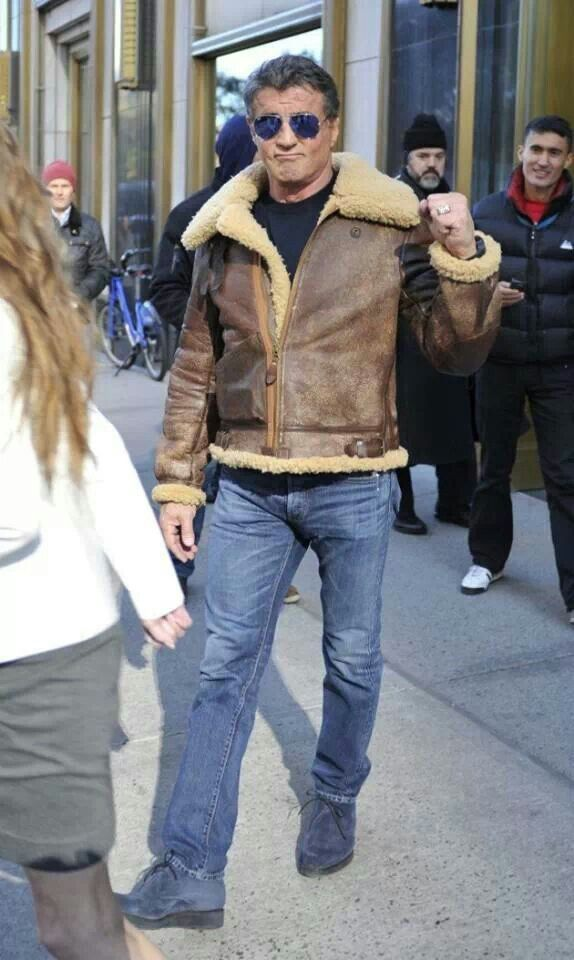 265a07d14 Sly in bomber jacket | Timeless, Sexy Sly Stallone in 2019 | Jackets ...