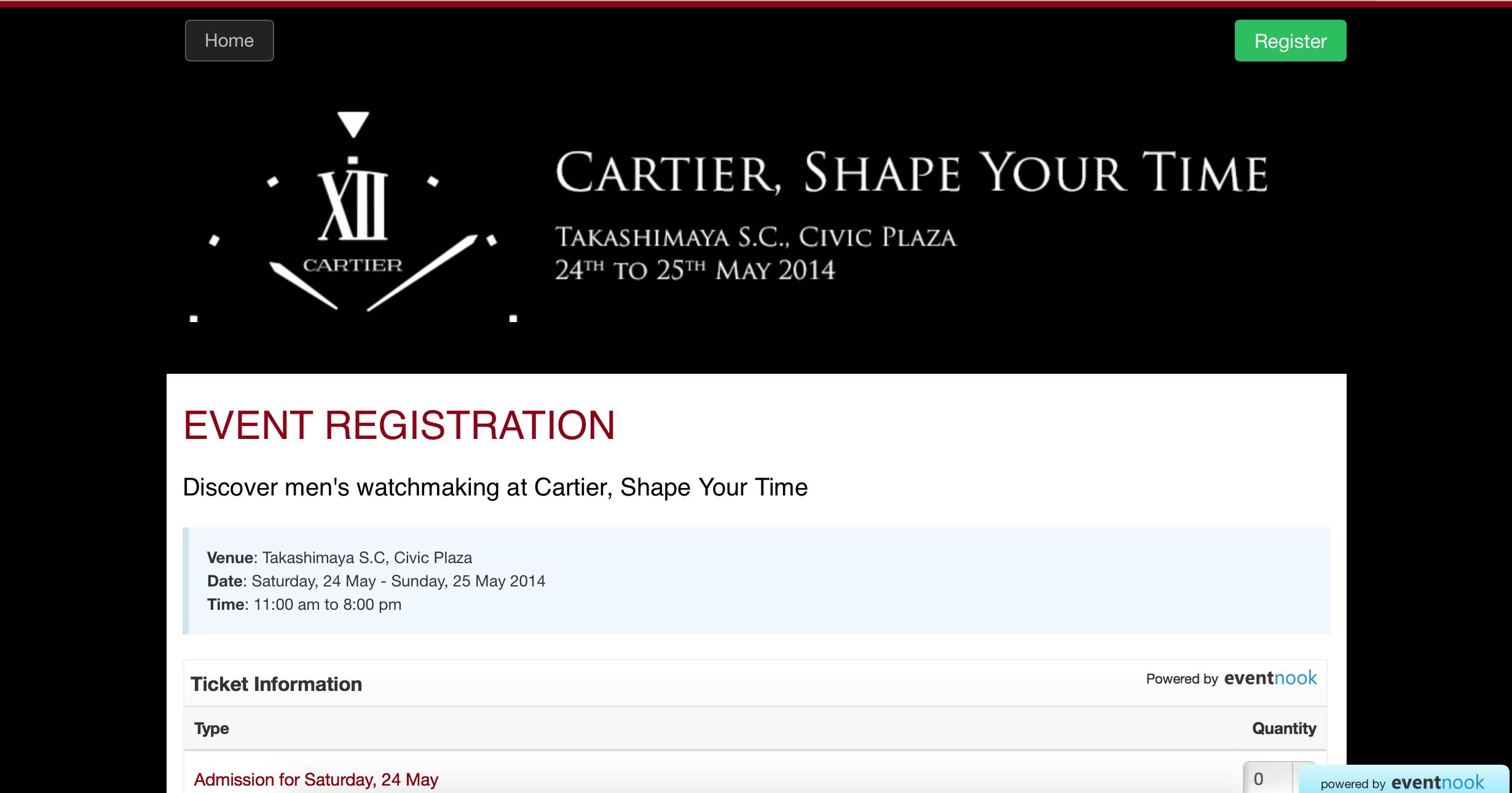 EventNook - Cartier, Shape Your Time 2014