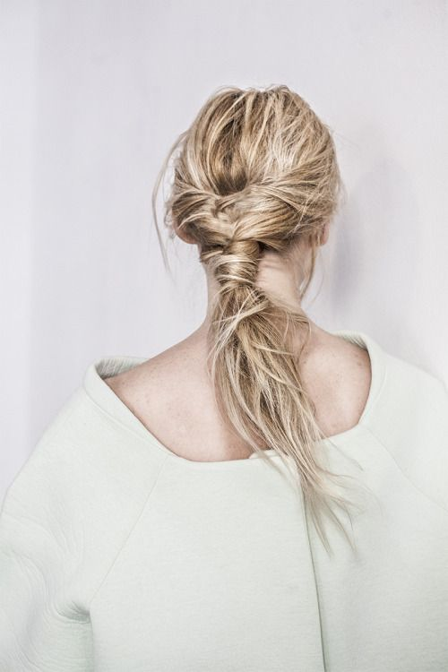 messy braid and knot #hair