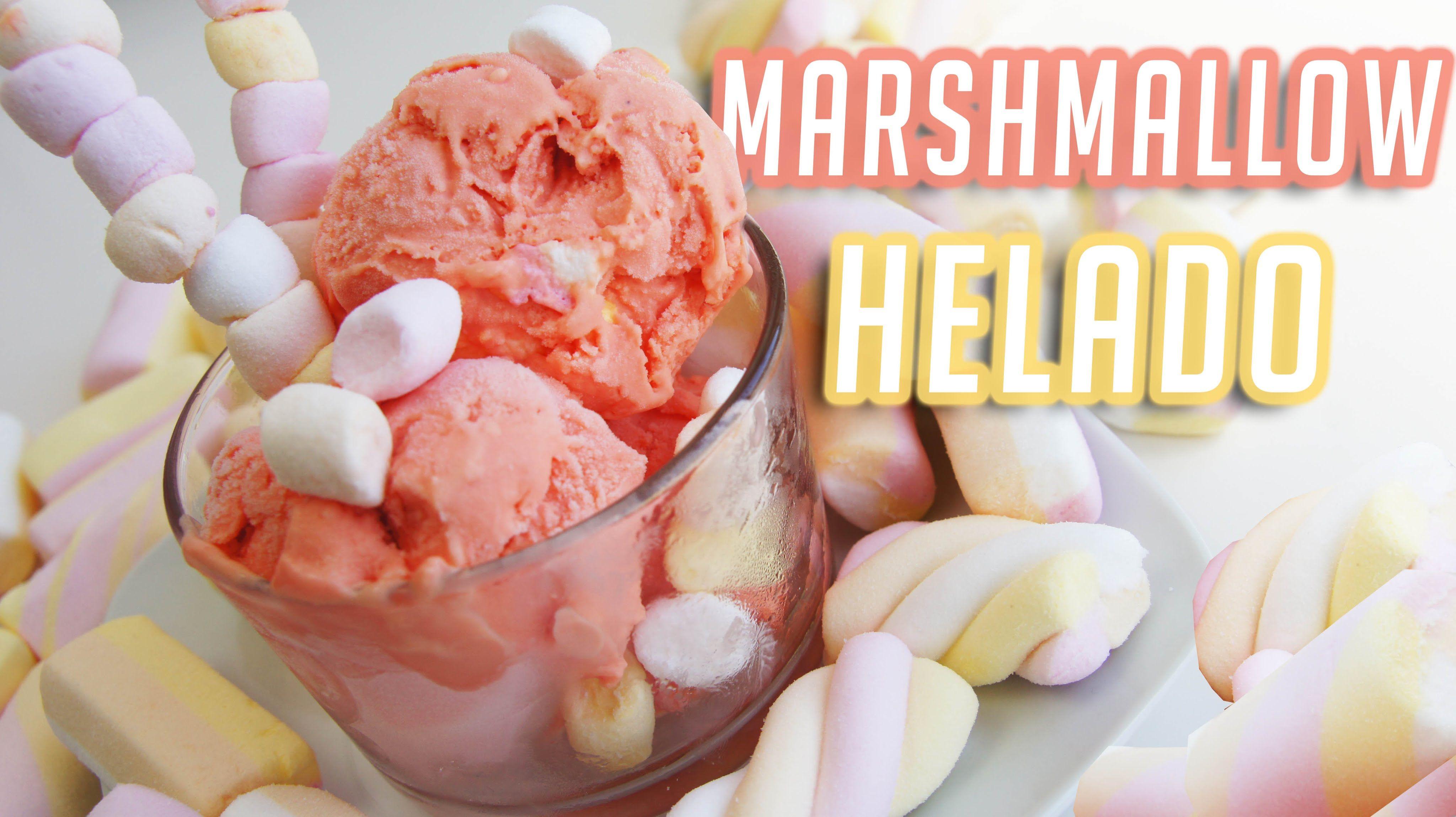 MARSHMALLOW HELADO CASERO !/MARSHMALLOW HOMEMADE ICE CREAM!