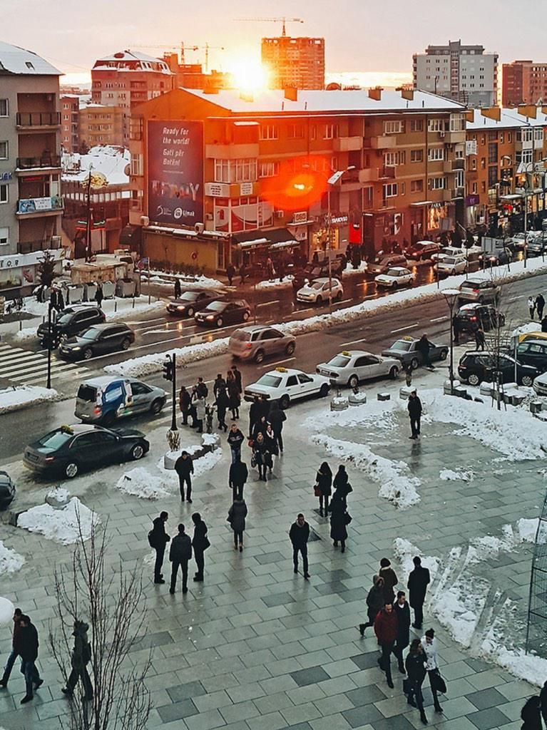 Winter Prishtina. Pristina, Prishtina, Kosovo
