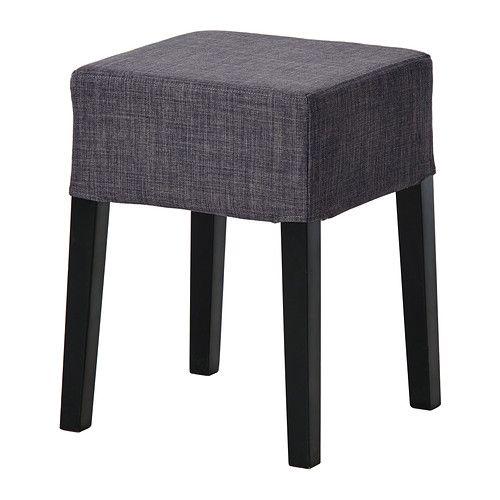 NILS Stool black, Skiftebo dark gray   Stool, Ikea stool