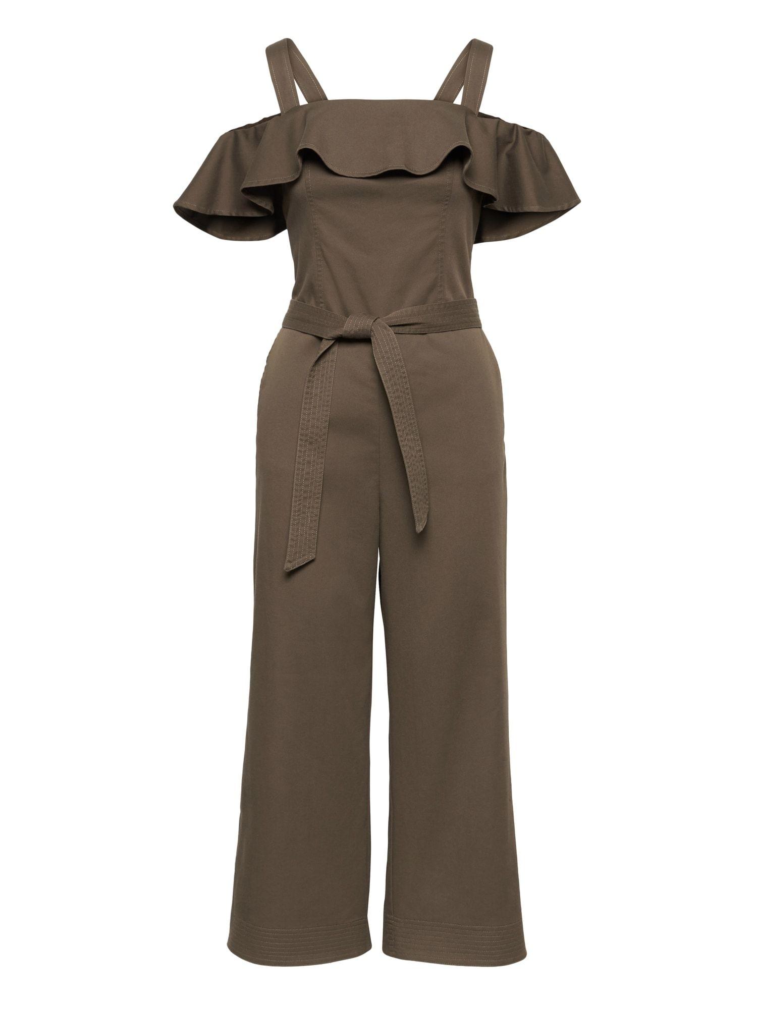 3ea823ec5efc Twill Off-the-Shoulder Cropped Jumpsuit