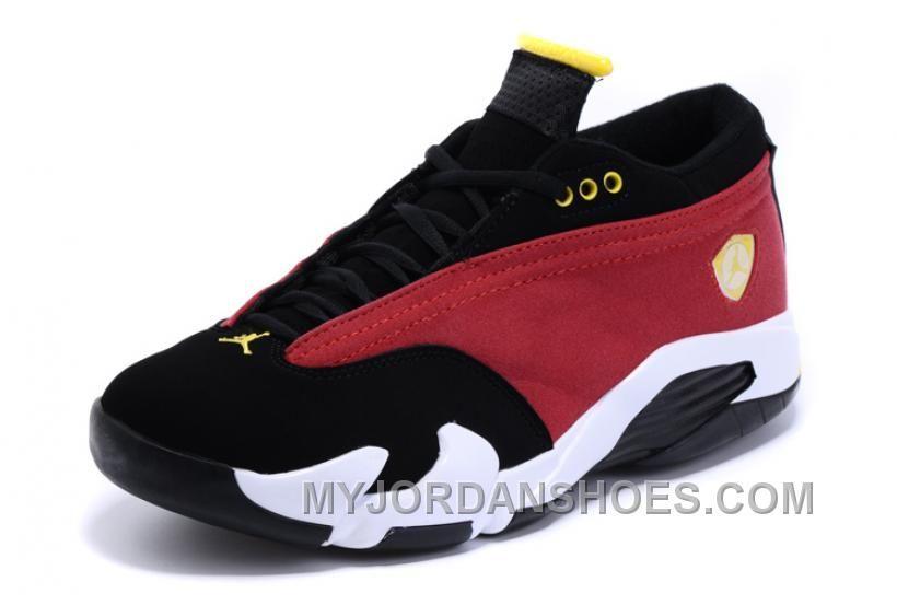 Air Jordan 14 XIV Retro Low NBA 2K16 Red Black Maize For Sale Online JHdzS