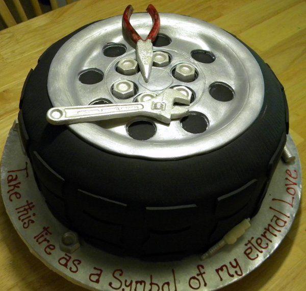 car birthday cake for men