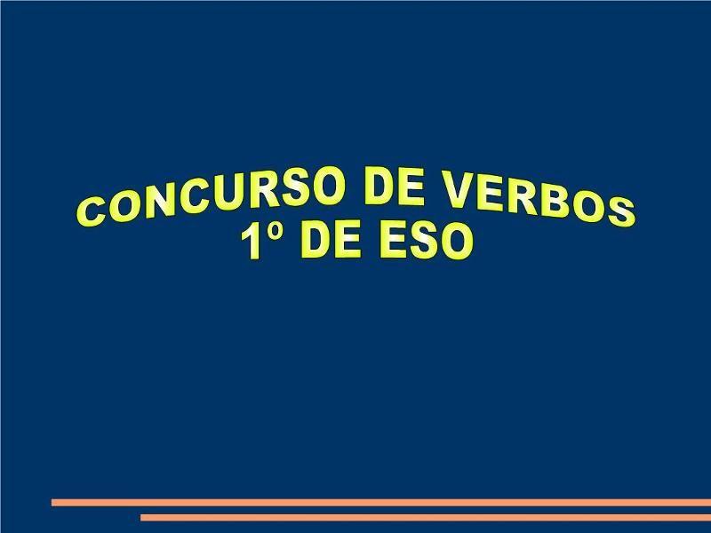 Concurso de verbos 1º ESO