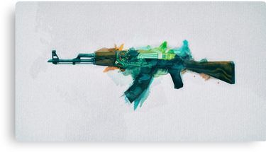 CS:GO AK-47 Fire Serpent Canvas Print