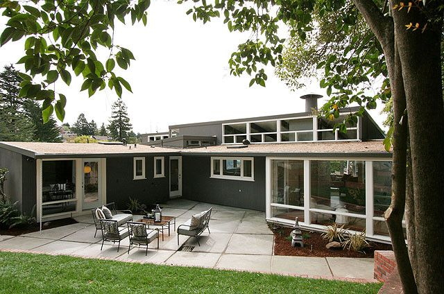 mid century modern homes exterior - Mid Century Modern Home Exterior Paint Colors