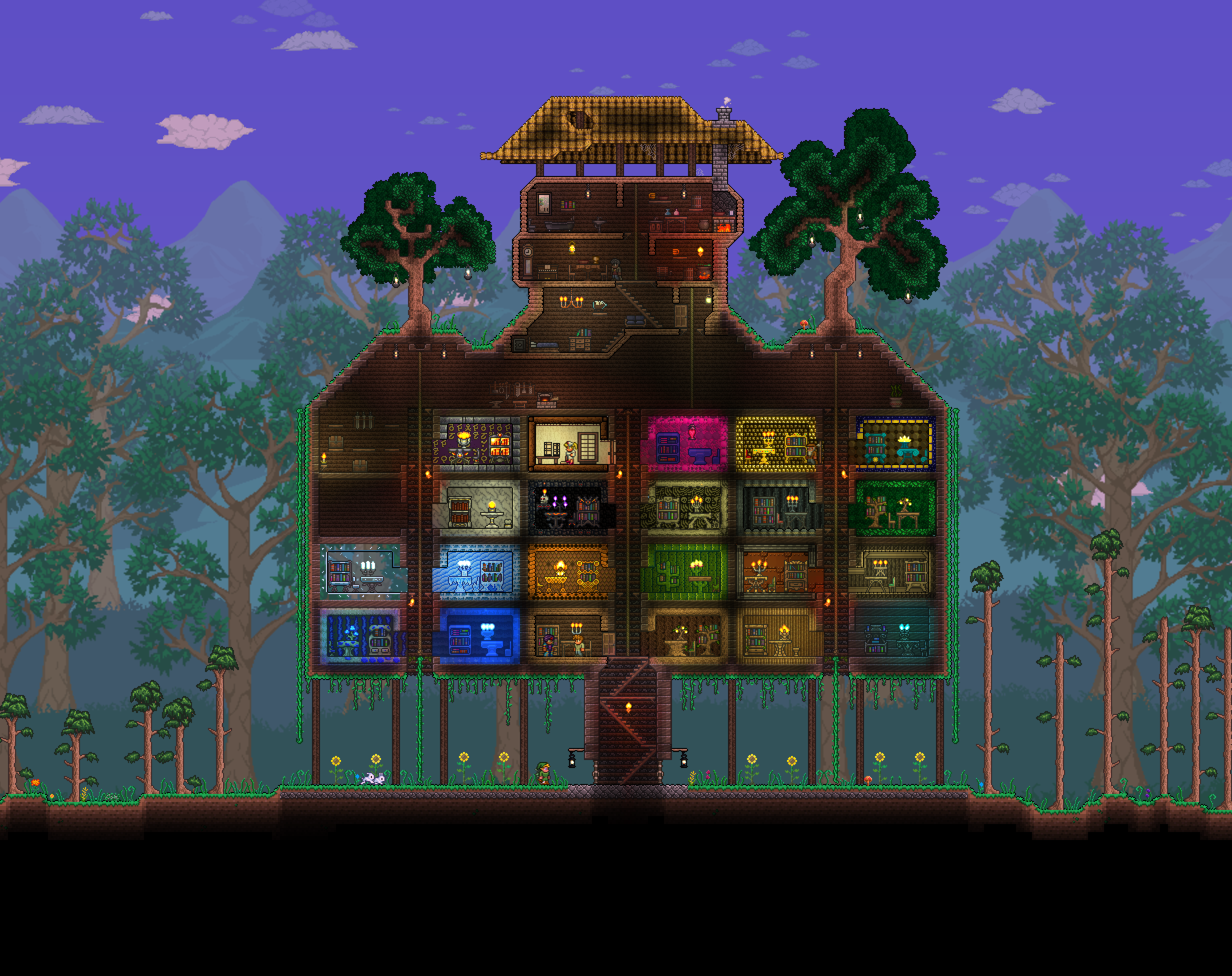 Themed rooms | Terraria & Minecraft | Starter home