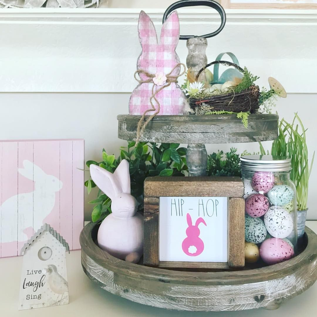 """Lori on Instagram: """"Sharing some pink bunny love for this last weekend in March! Wishing you all a wonderful weekend!��� . . Pink checked bunny from Terri…"""""""