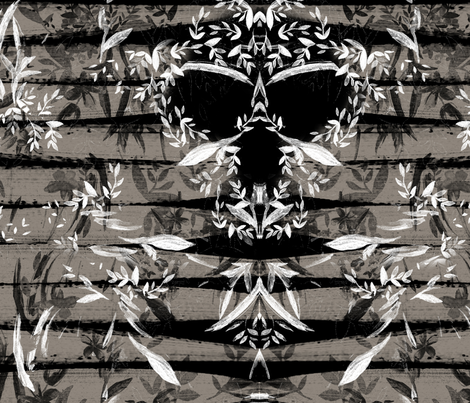 Skull Shadows by Carin Sauerwein fabric by neonasaurus on Spoonflower - custom fabric