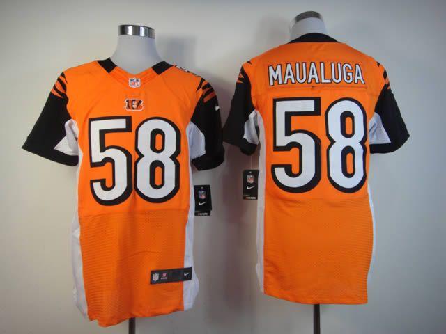 Nike NFL  58 orange Rey Maualuga Elite Cincinnati Bengals jersey  ID 946810100 23 c50f0179c