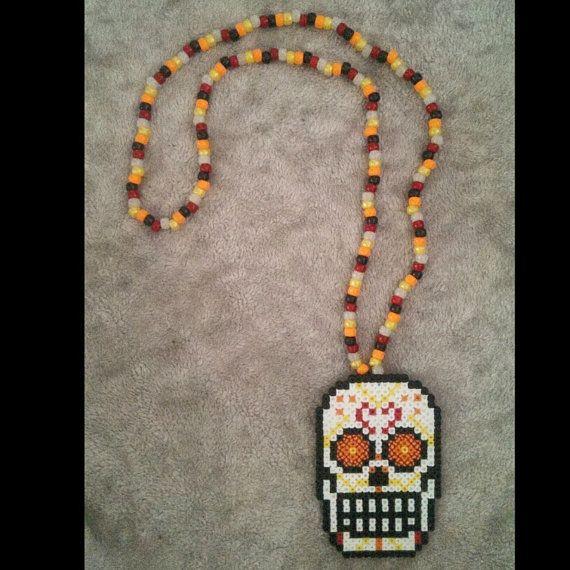 Artistbooks Ideas: Sugar Skull Kandi Necklace By Sensationcreations12 On Etsy