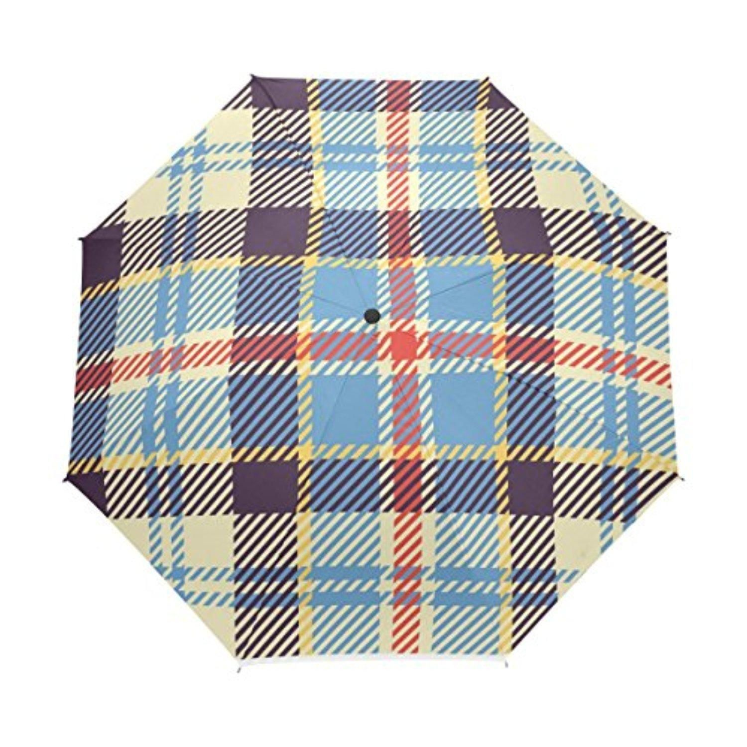VAWAS Ferguson Clan Tartan Pattern 100% Fabric and Aluminium Foldable Umbrella (41 Inch) - Brought to you by Avarsha.com
