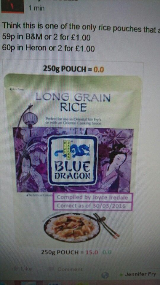Syn Free Microwave Rice