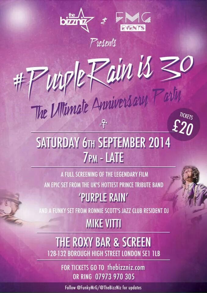 Wow! I was only 12 but til this day PURPLE RAIN will always