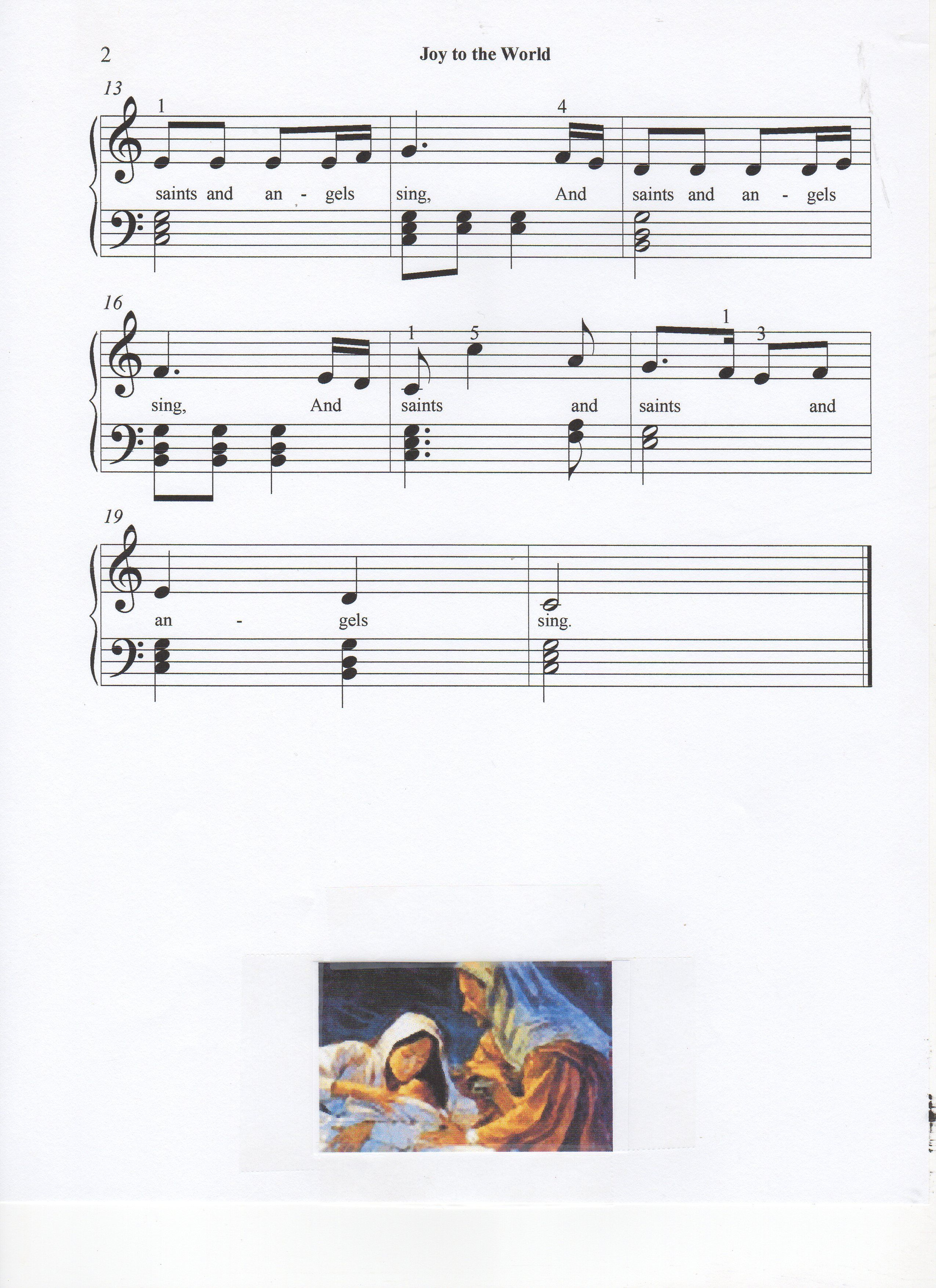 Joy to the World, page 2 of 2, Christmas song, Let\'s Play Music ...