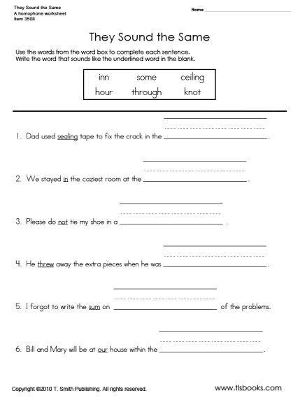 They Sound The Same Homophone Worksheet Homophones Worksheets For Grade 2 Homophones Worksheets Commonly Confused Words Homophones worksheet 2nd grade