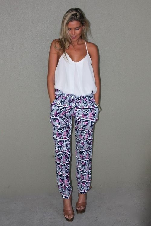 16796a520b80 Blousy tank tucked into flowy pants or skirt