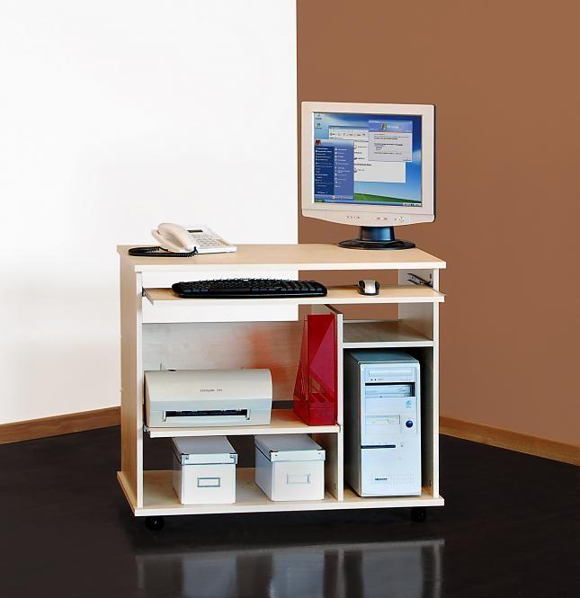 1169 computertisch schreibtisch pc tisch auf rollen mehrere farben ahorn ikea. Black Bedroom Furniture Sets. Home Design Ideas