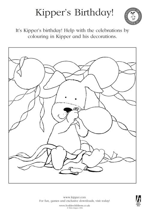 Coloring Pages Great Activity For Kids Birthday For Girls - Kipper-coloring-pages