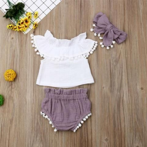 3 Pcs Shirt & Shorts Set – cute outfits
