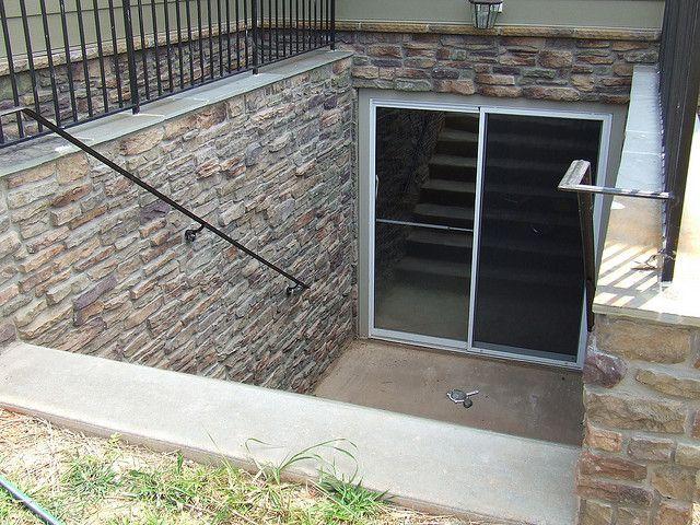 Old hickory basement walk up stone basements stone and for Basement entrance design