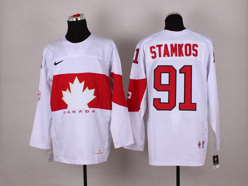 7d3c02310 ... order team canada 91 steven stamkos 2014 winter olympics jersey white  a73e0 02581
