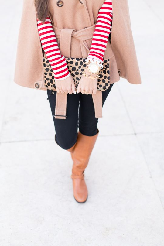 stripes, camel cape and leopard