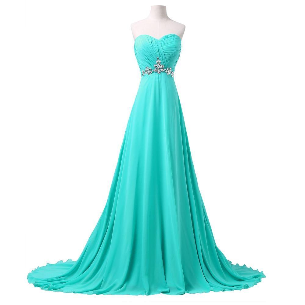 Turquoise Long Bridesmaid Dresses 2016 A Line Sweetheart Women ...
