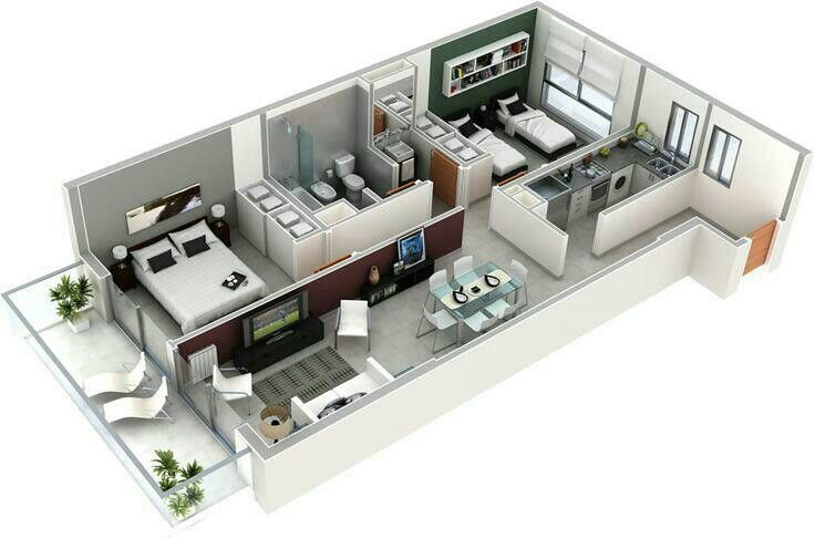 20 Interesting Two-Bedroom Apartment Plans Bedroom apartment