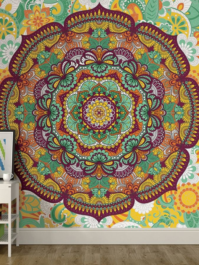 Brewster Paradise Coloring Wall Mural | Products | Pinterest | Wall ...