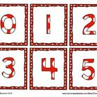 Free: Here is a fun set of number cards from 0 to 20.  It can be used for games, activities, pocket charts, or number lines on the wall.