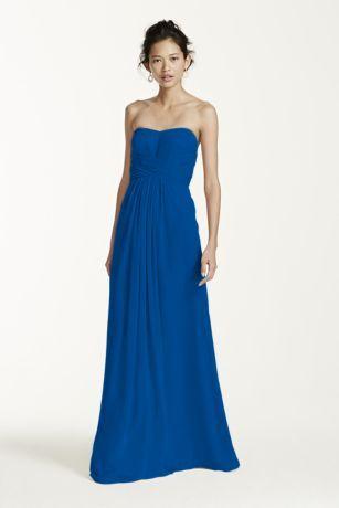 d52fcf12bc0 F15555 David s Bridal chiffon bridesmaid dress in Horizon. Actual color is  more of a royal blue