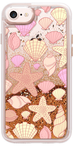 Casetify iPhone 7 Glitter Case - Sally Sells Seashells by Kristin Nohe Juchs #Casetify
