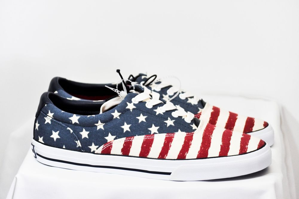 Tommy Hilfiger Men Phelipo 6 American Flag Fashion Sneaker size 10 D NEW #TommyHilfiger #FashionSneakers