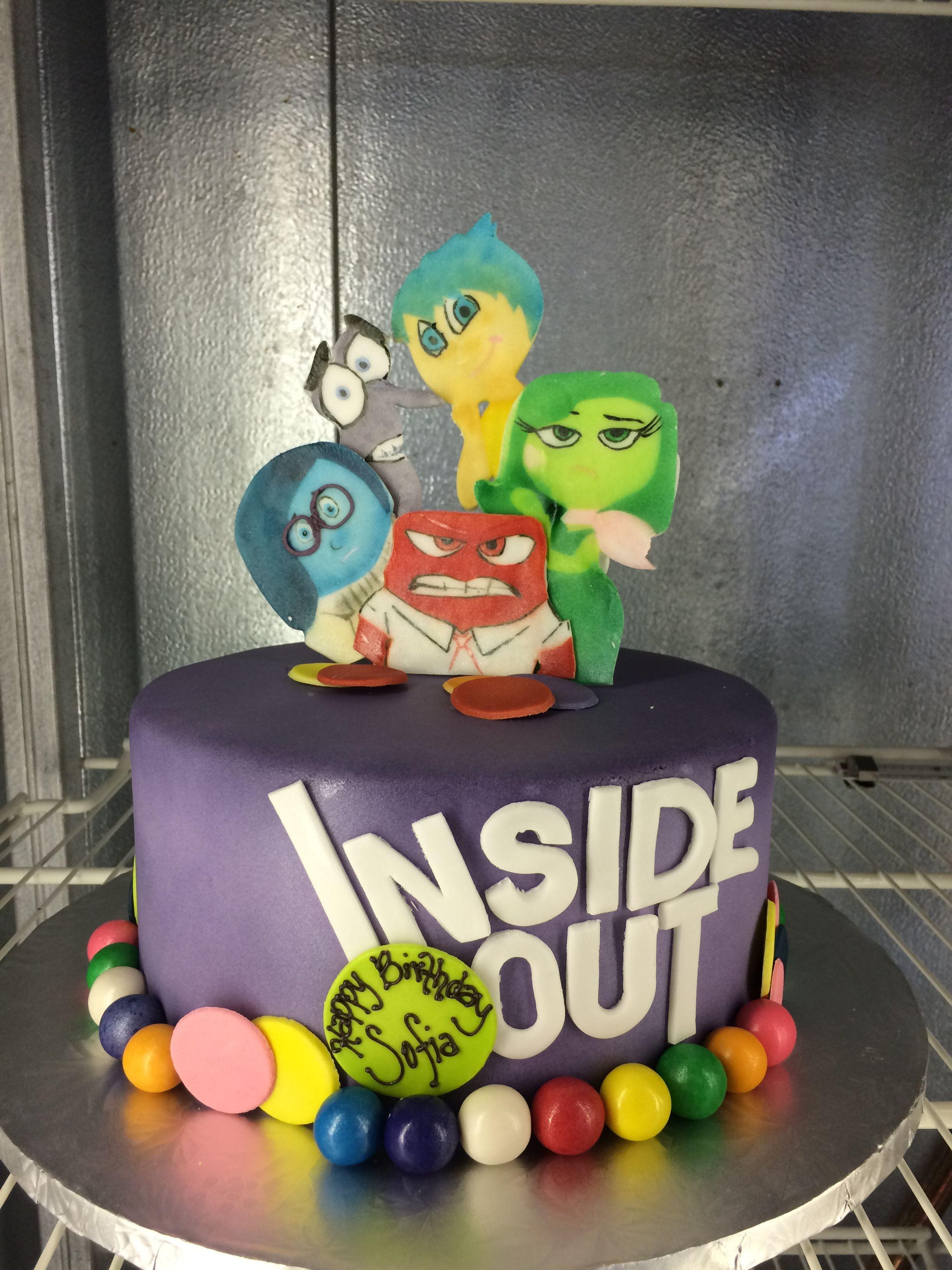 Disney Pixar Inside Out Themed Birthday Cake Childrens Cakes