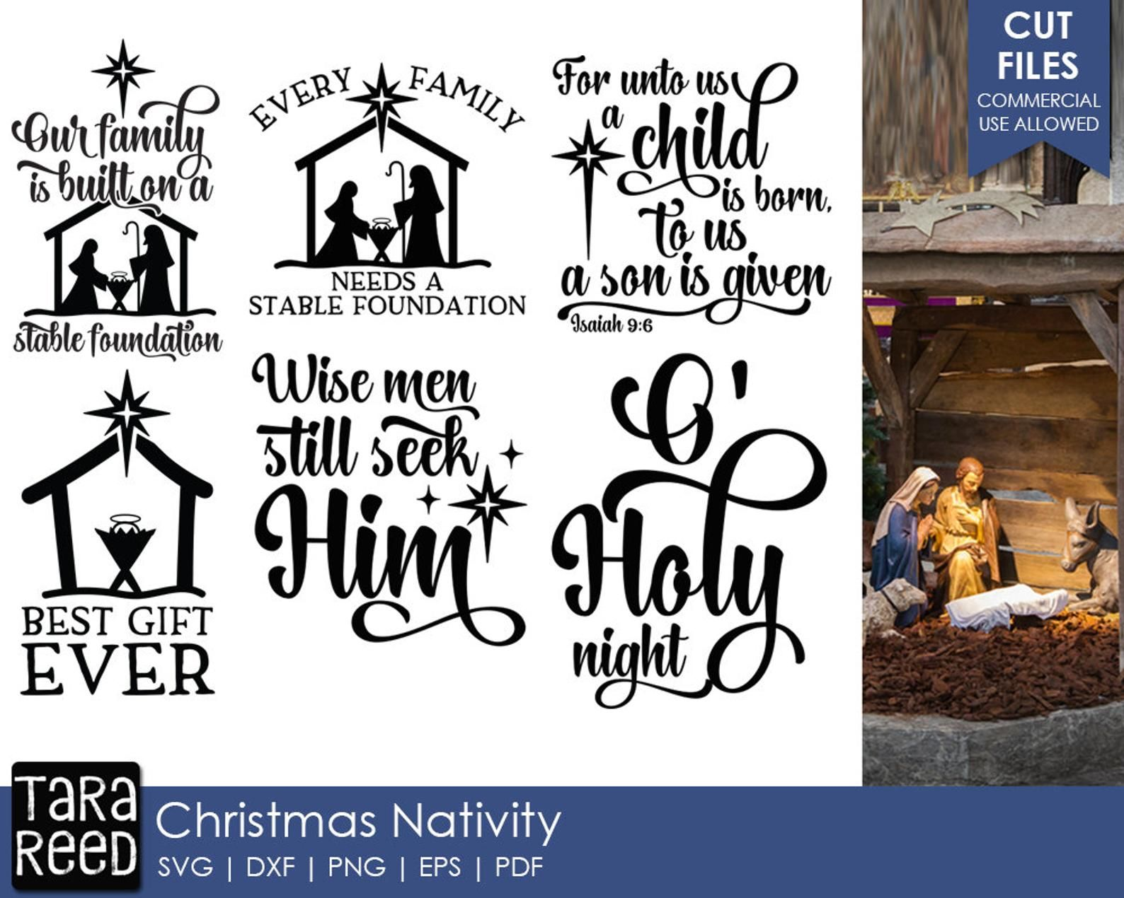 Christmas Nativity - Christmas SVG and Cut Files for Crafters