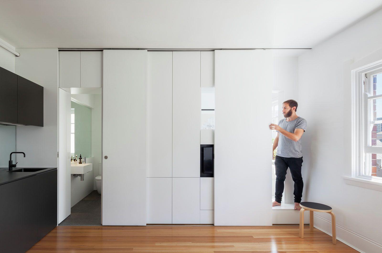 Minimalist Inner City Micro Apartment With Smart Functional Design Idesignarch Interior Design Architecture Interior Decorating Emagazine Small Apartment Design Apartment Design Small Room Design