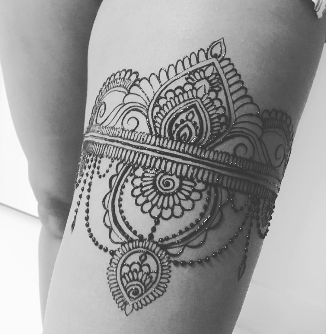 Henna Thigh Tattoo Ideas: Pin By Katy Verhagen On Damhsa