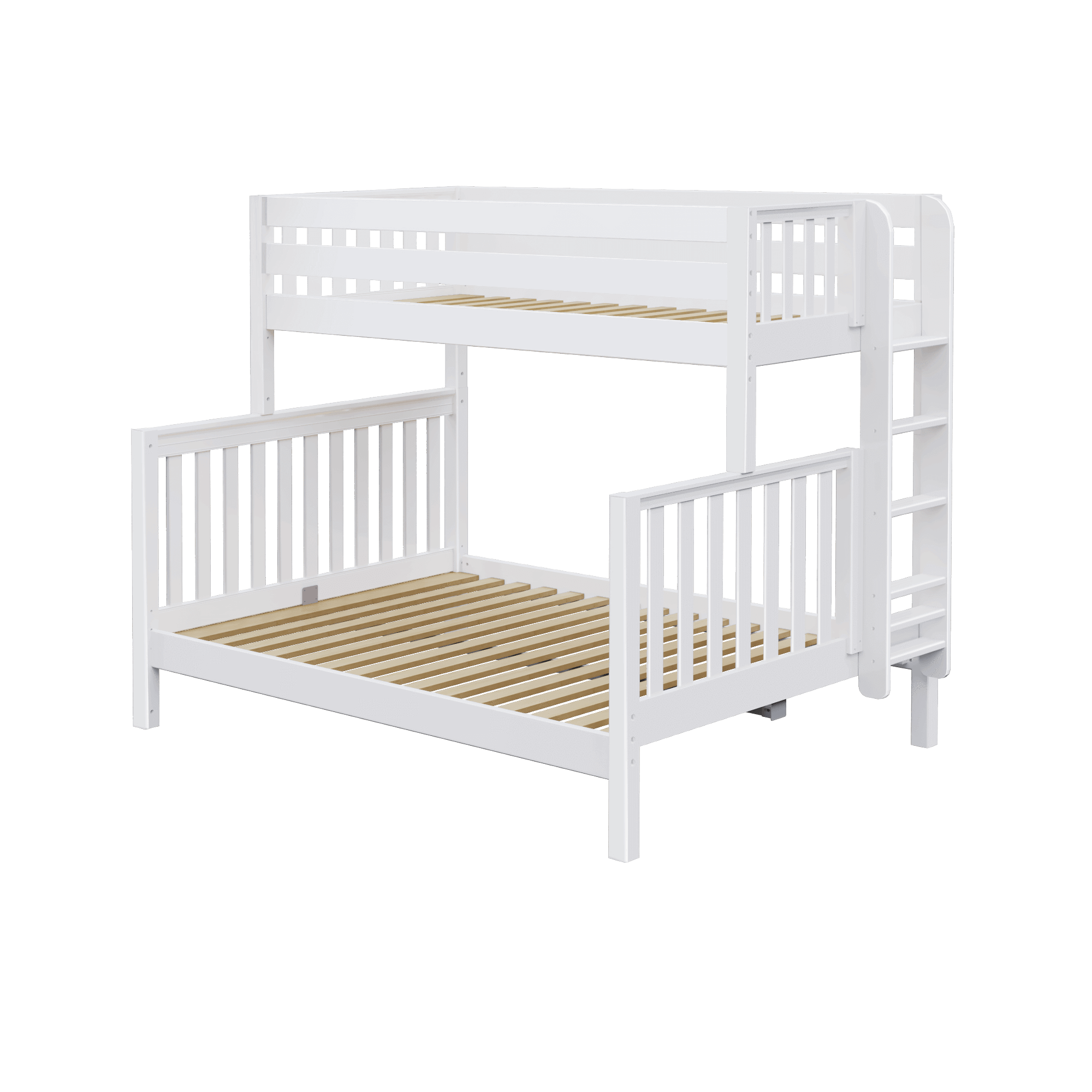 High Twin Xl Over Queen Bunk Bed With Ladder Queen Bunk Beds Bunk Beds Kids Bedroom Sets