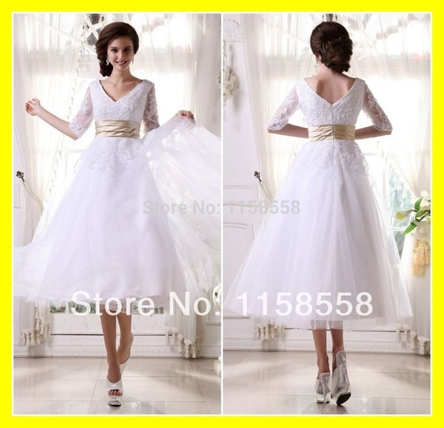 Casual Plus Size Wedding Dresses Ball Gown Sleeve Dress White And ...