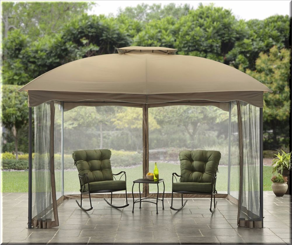 Outdoor Gazebo Canopy 10x12 Shelter Cabin Style Patio Garden Furniture Shade US $367.77 #OutdoorGazeboCanopy & Outdoor Gazebo Canopy 10x12 Shelter Cabin Style Patio Garden ...