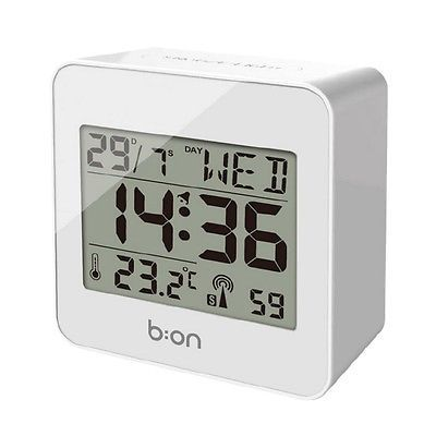 #Balvi #block alarm #clock  l7.2 x w3.5 x h7.2cm white,  View more on the LINK: 	http://www.zeppy.io/product/gb/2/182240644769/