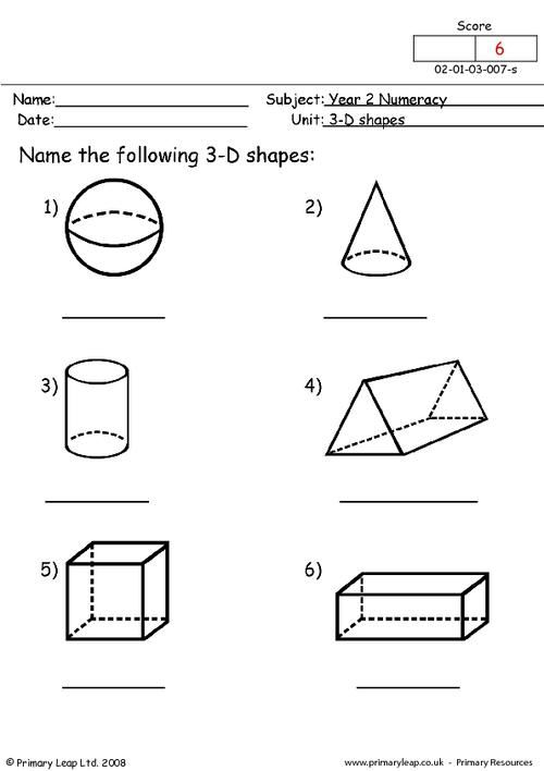 3d shapes worksheet geometry geometry worksheets shapes worksheets. Black Bedroom Furniture Sets. Home Design Ideas