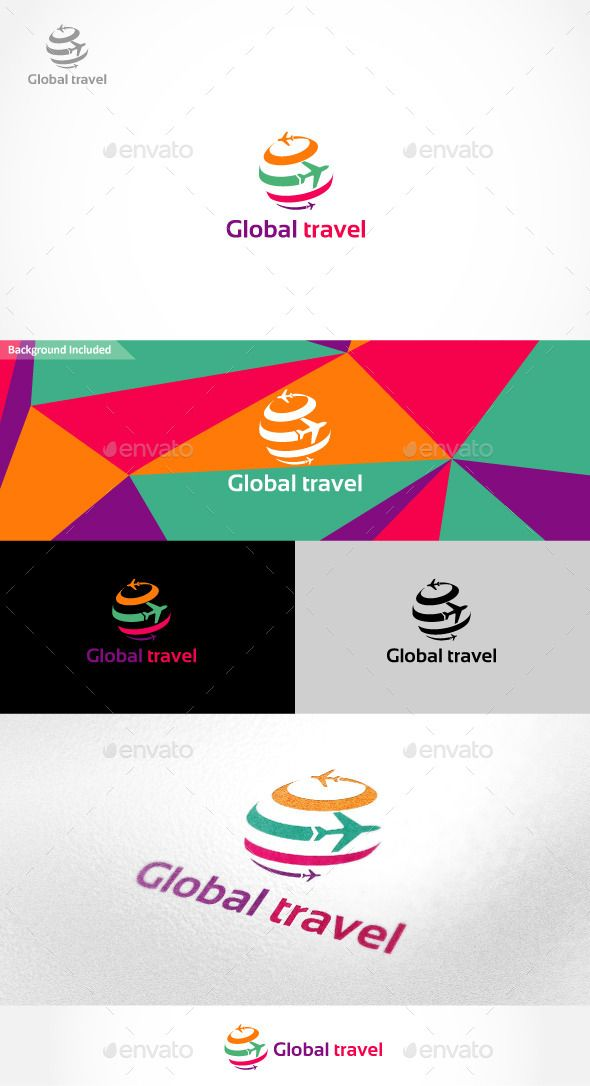Global Travel Logo Photoshop PSD Summer Booking O Available Here Graphicriver Item 9937265refpxcr