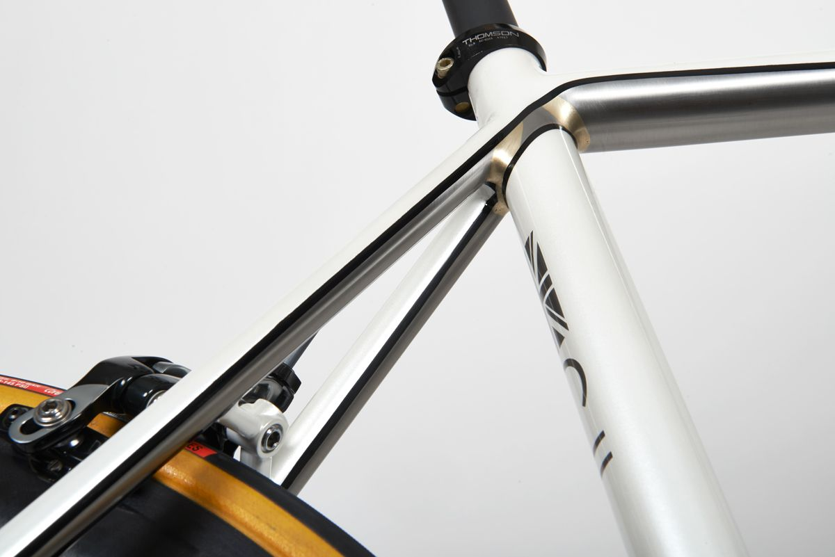 Donhou Bike. Pearl white paint/ brazed stainless underneath | its ...