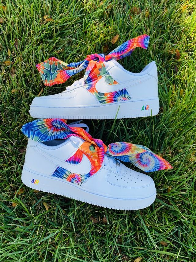 Tie Dye Bandana Air Force 1 in 2020 Swag shoes, Nike