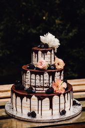 Photo of Wedding Cake Naked Cake Photos: Photo Skirt Wedding Planning: Rock Weddings Decor …